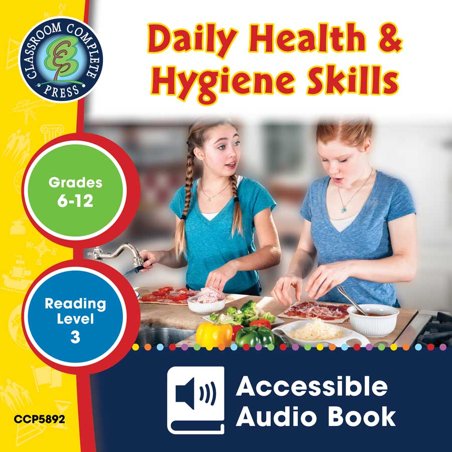 Daily Health & Hygiene Skills - Accessible Audio Book Gr. 6-12 - eBook