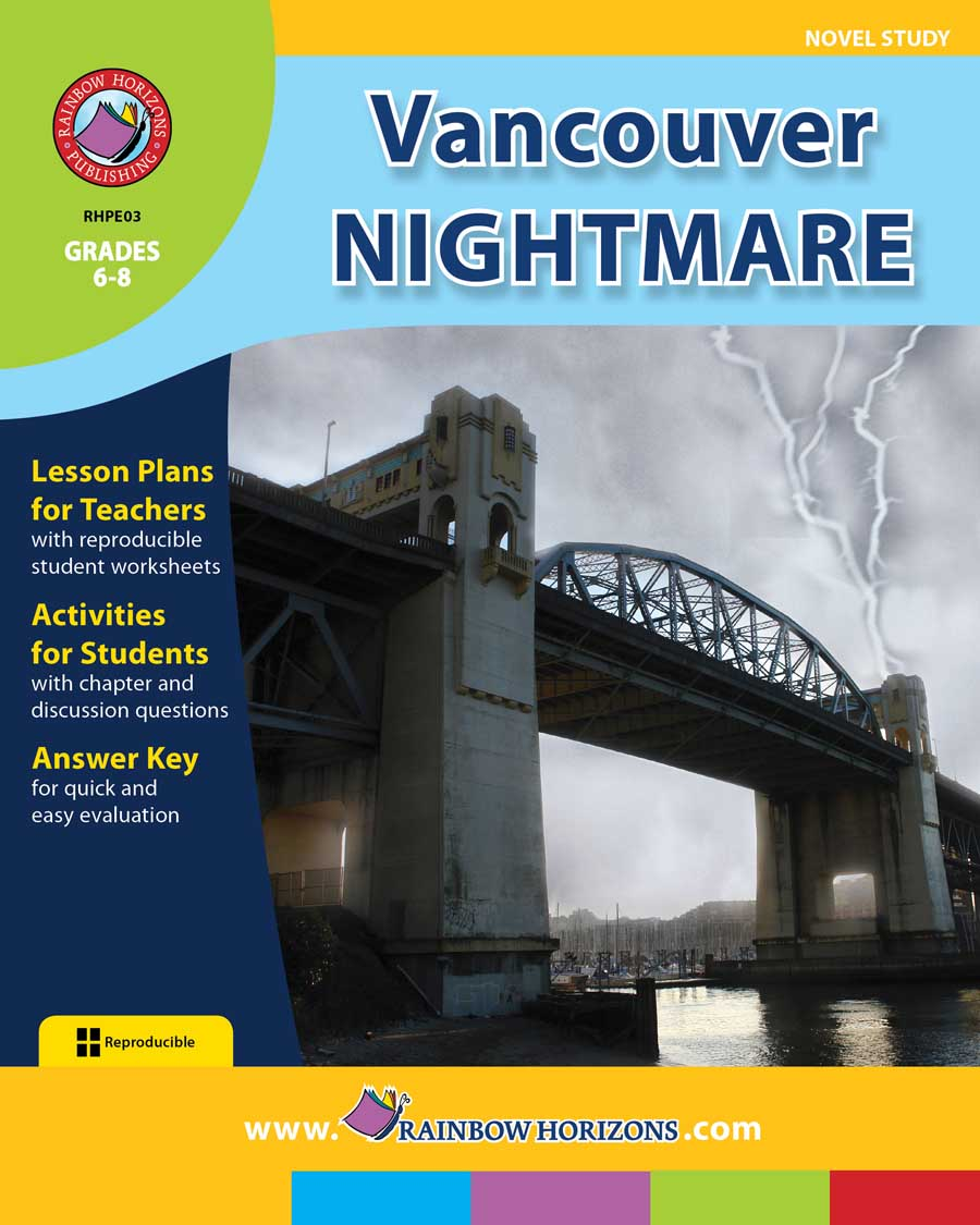 Vancouver Nightmare (Novel Study) Gr. 6-8 - print book