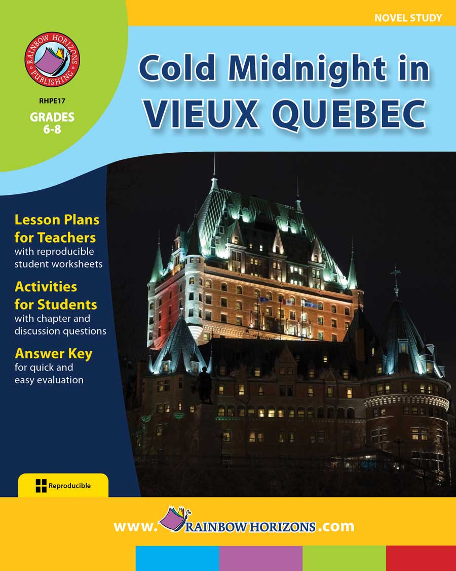 Cold Midnight In Vieux Quebec (Novel Study) Gr. 6-8 - print book