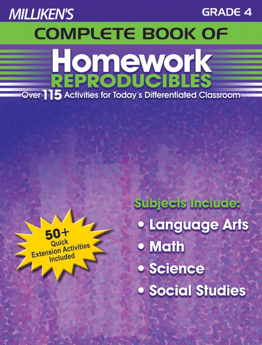 Milliken's Complete Book of Homework Reproducibles - Grade 4