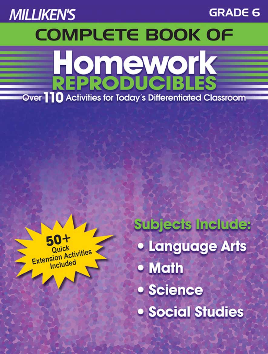 Milliken's Complete Book of Homework Reproducibles - Grade 6