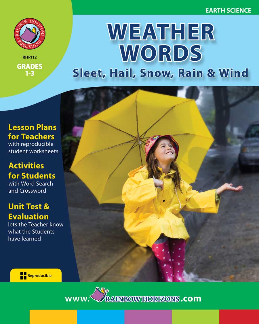 Weather Words: Sleet, Hail, Snow, Rain & Wind Gr. 1-3 - print book