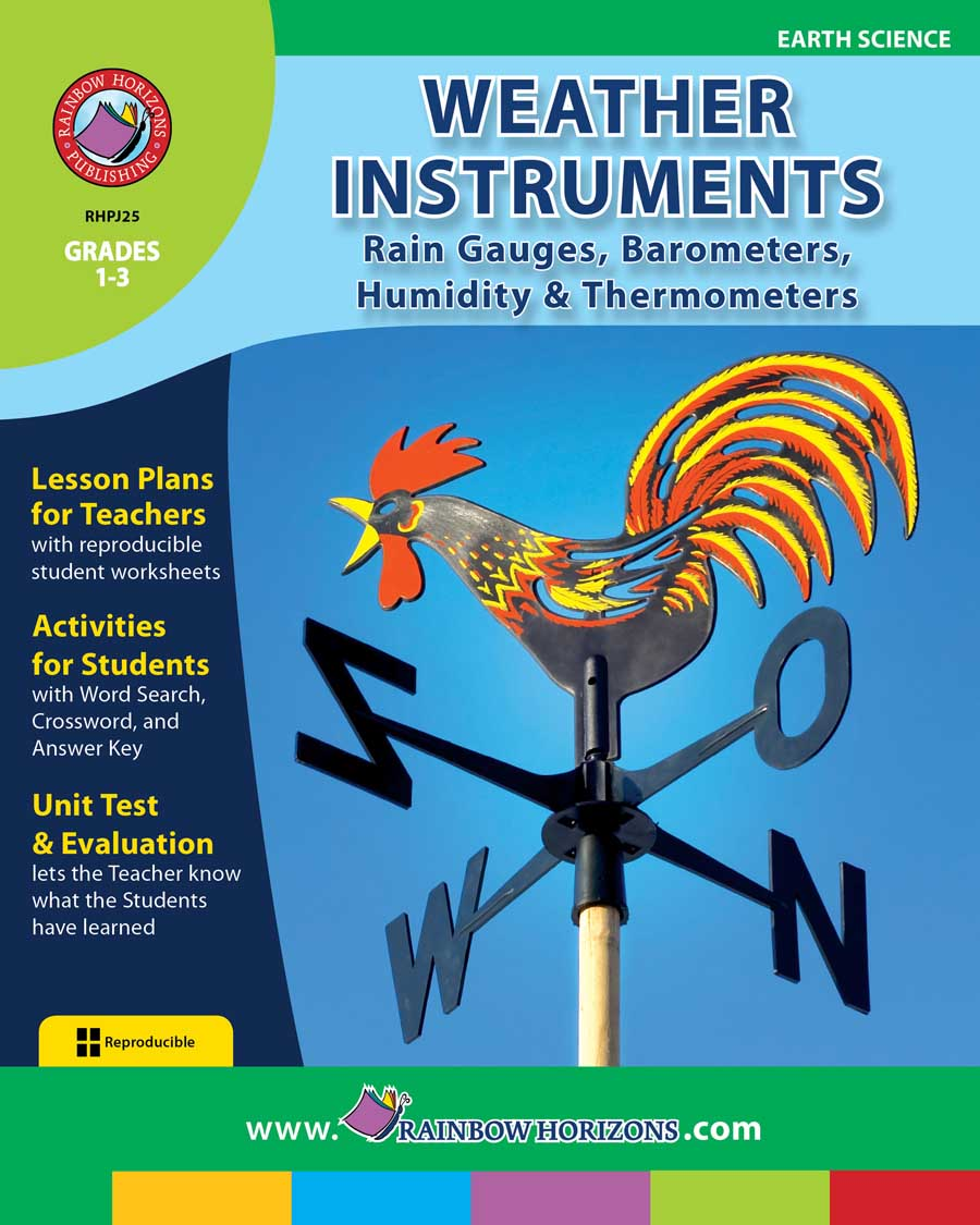 Weather Instruments: Rain Gauges, Barometers, Humidity & Thermometers Gr. 1-3 - print book