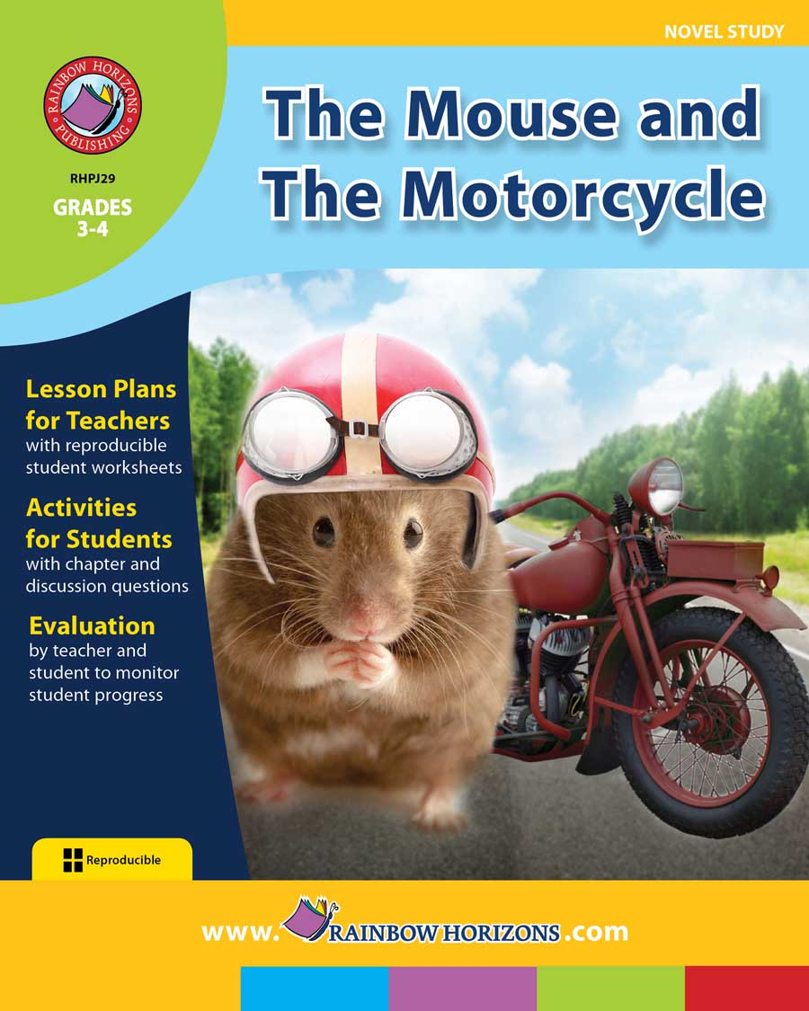 The Mouse and The Motorcycle (Novel Study) Gr. 3-4 - print book