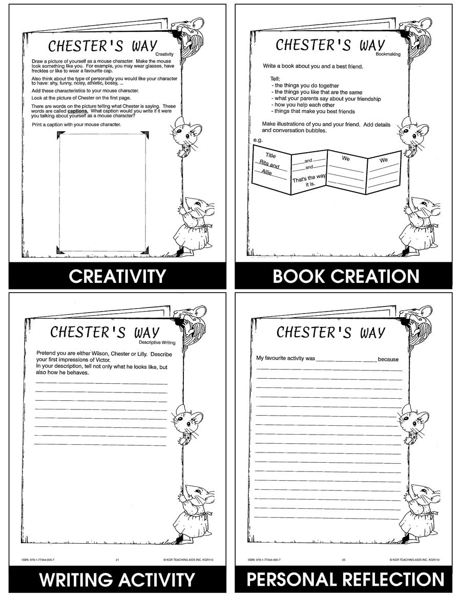 CHESTER'S WAY - STUDY GUIDE Gr. 2-4 - eBook