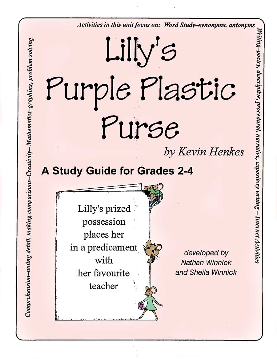 LILLY'S PURPLE PLASTIC PURSE - STUDY GUIDE Gr. 2-4 - eBook