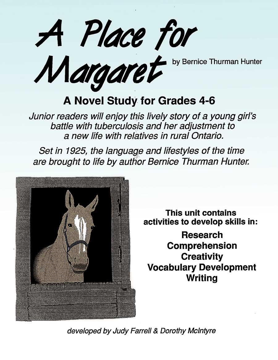 A PLACE FOR MARGARET NOVEL STUDY Gr. 4-6 - eBook