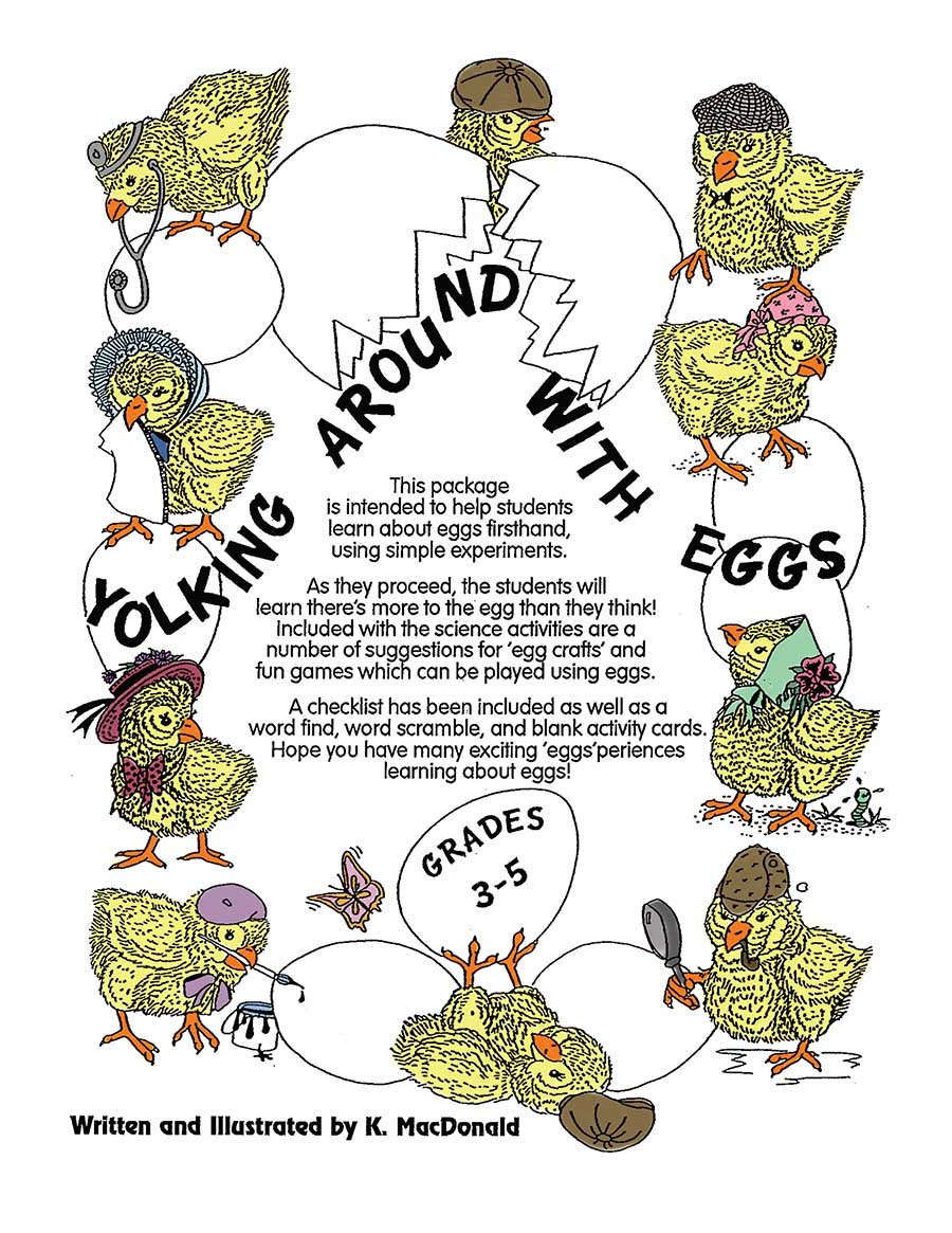 YOLKING AROUND WITH EGGS Gr. 3-5 - eBook