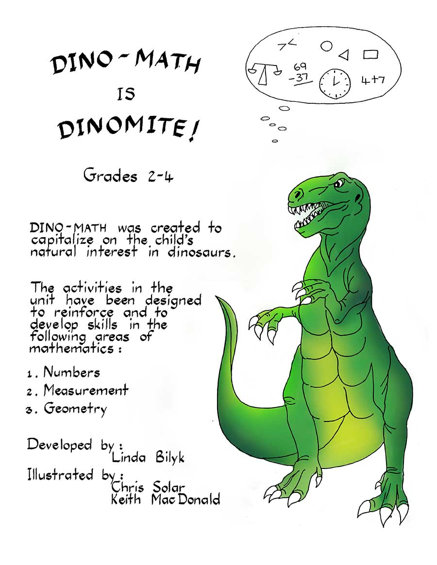 DINO-MATH IS DINOMITE! Gr. 2-4 - eBook