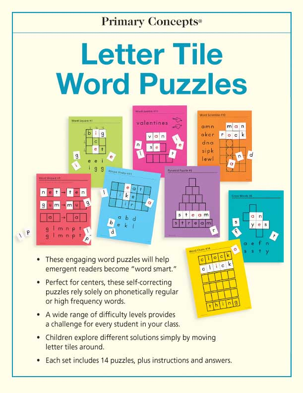 Letter Tile Word Puzzles