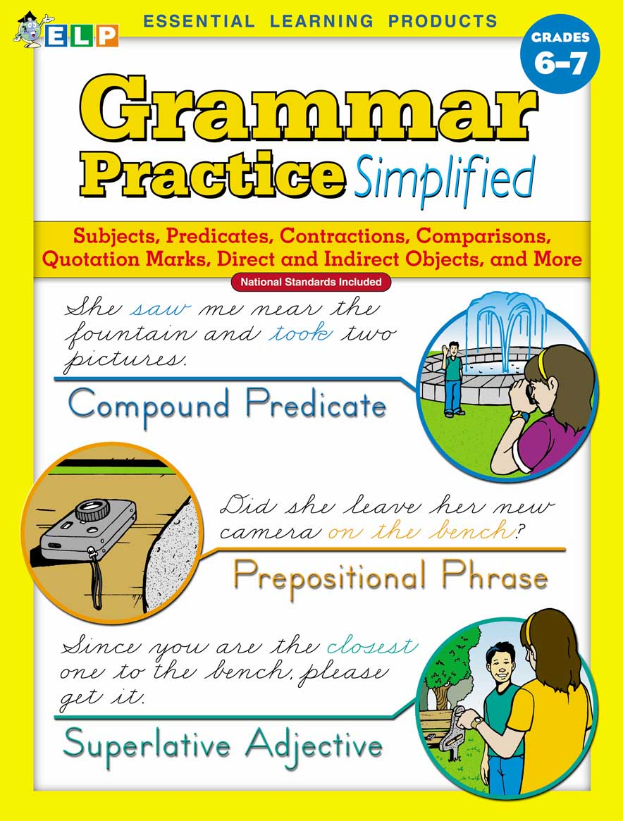 Grammar Practice Simplified: Guided Practice in Basic Skills (Book E, Grades 6-7)