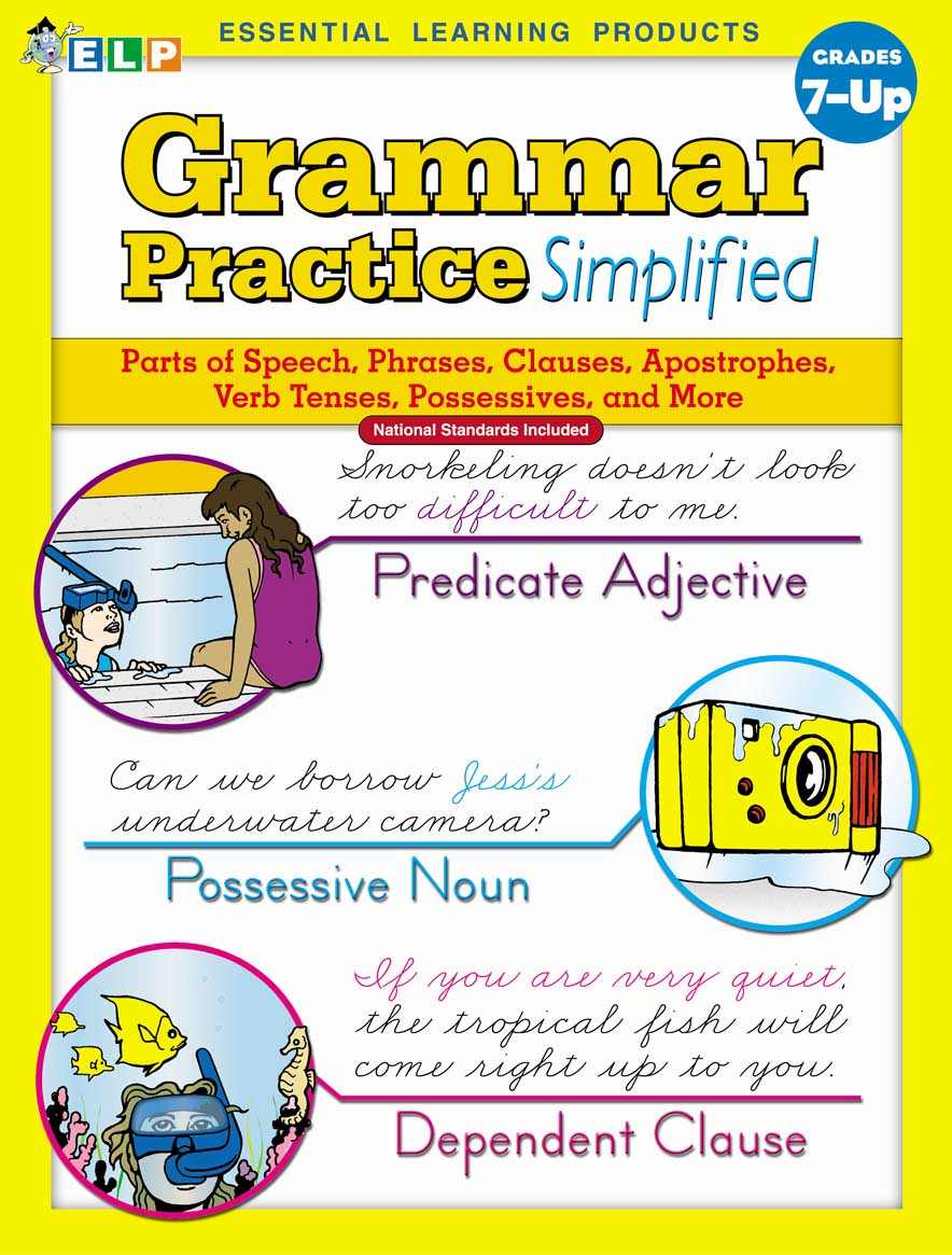 Grammar Practice Simplified: Guided Practice in Basic Skills (Book F, Grades 7+)