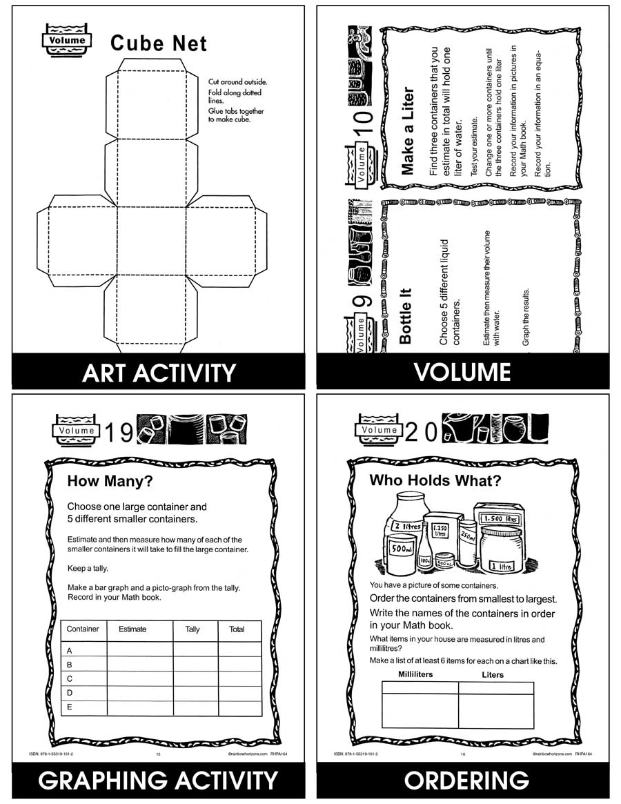 Let's Measure Up: Volume, Mass, Area Gr. 4-6 - eBook