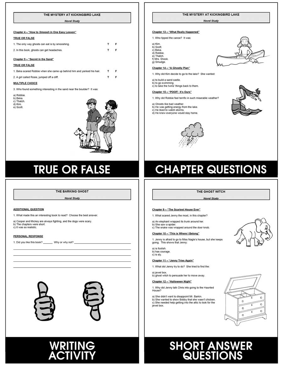 Ghosts: Reading Comprehension (Novel Study) Gr. 3-7 - eBook