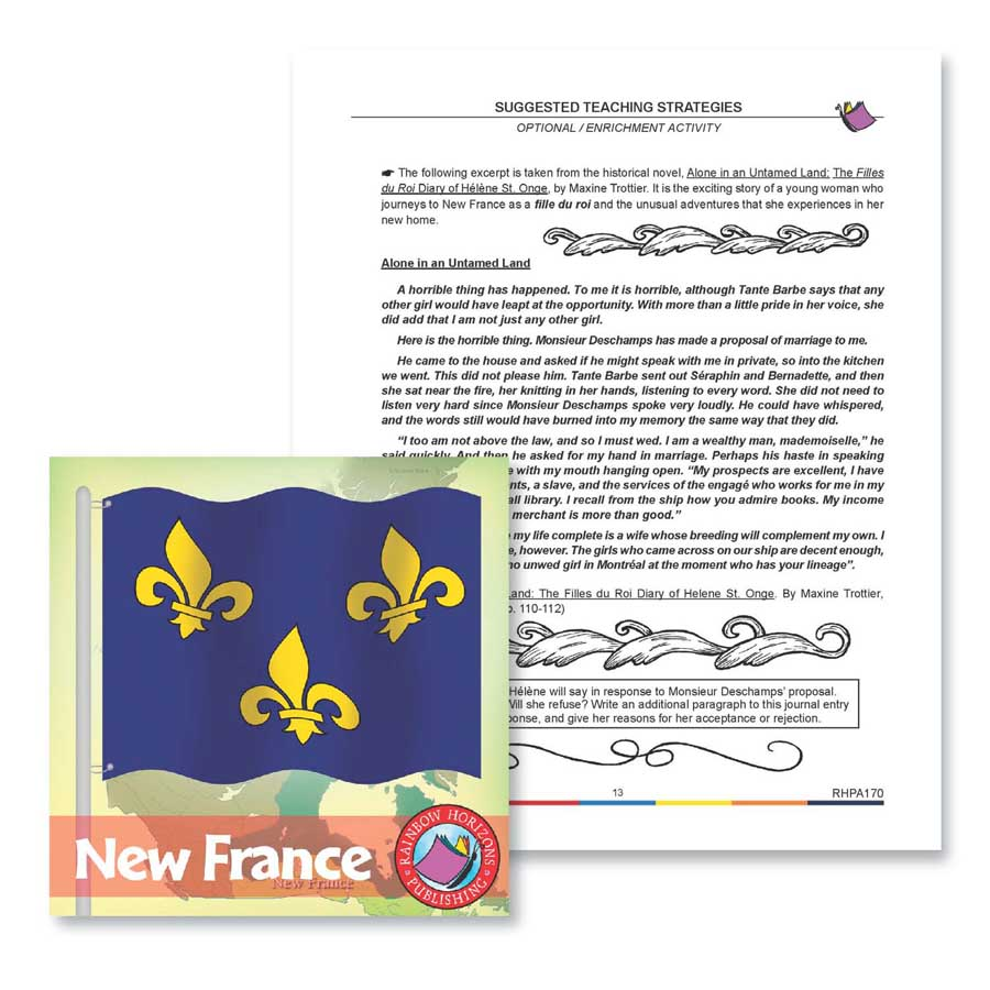 New France: Enrichment Activity Gr. 7-8 - WORKSHEET - eBook