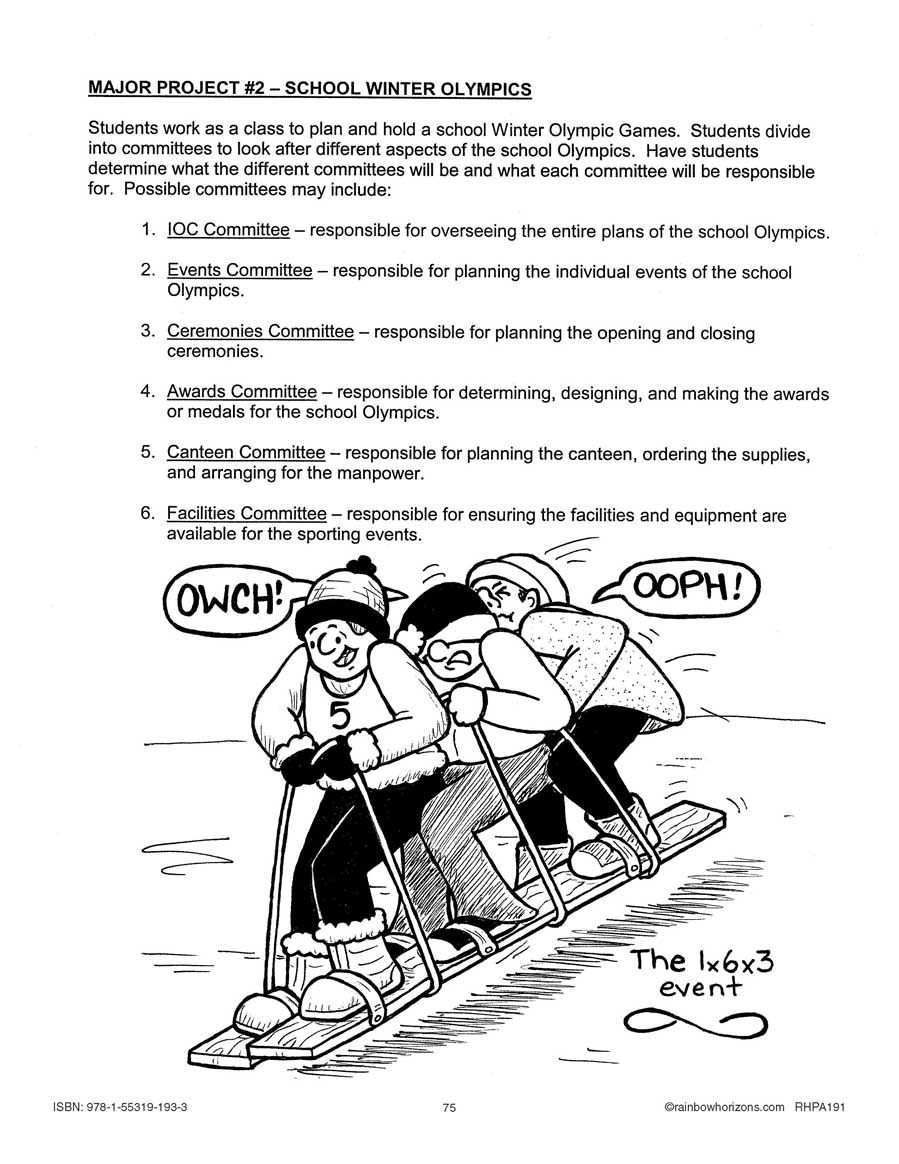Winter Olympic Games: Major Project Outline Gr. 4-6 - WORKSHEET - eBook