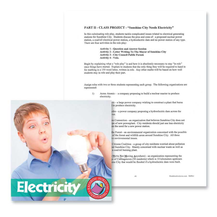 Electricity: Class Project Outline Gr. 4-7 - WORKSHEET - eBook
