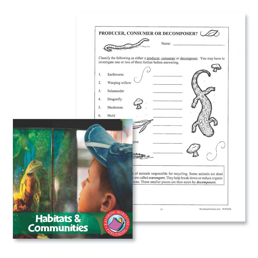 Habitats & Communities: Producer, Consumer or Decomposer Gr. 4-6 - WORKSHEET - eBook