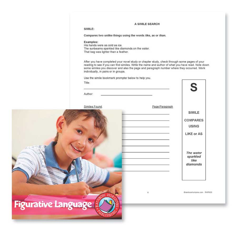 Figurative Language: A Simile Search Gr. 4-6 - WORKSHEET - eBook