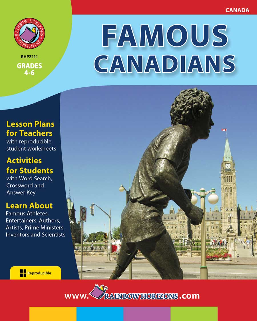 Famous Canadians Gr. 4-6 - print book