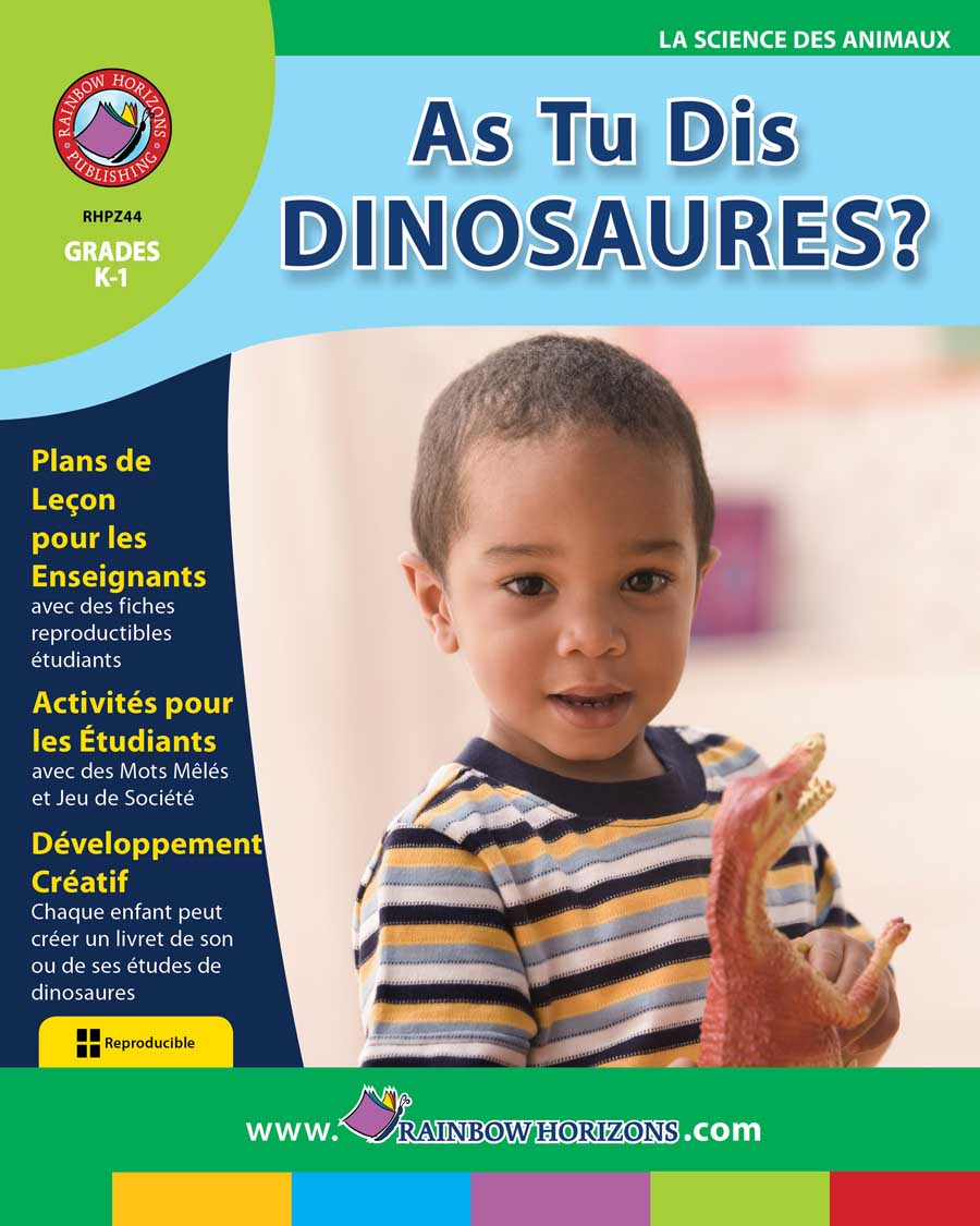 As Tu Dis Dinosaures? Gr. K-1 - print book