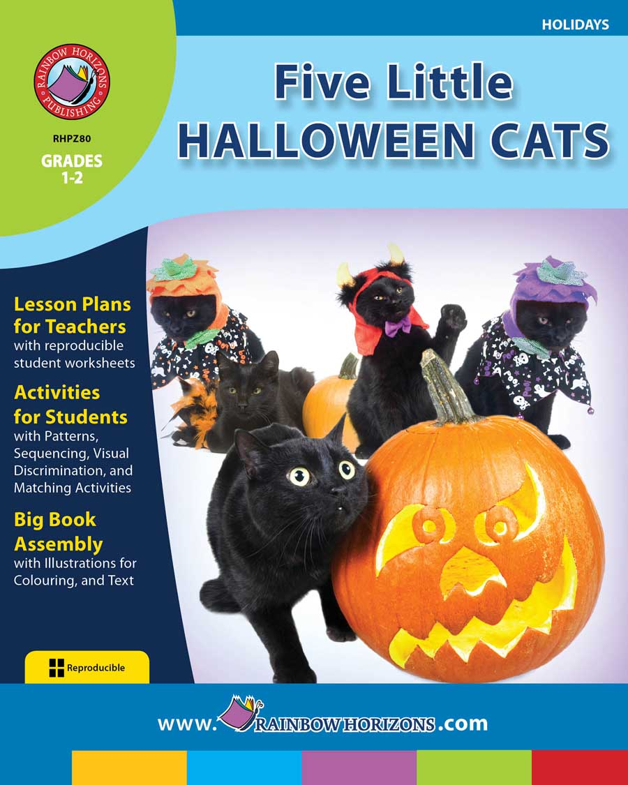Five Little Halloween Cats Gr. 1-2 - print book