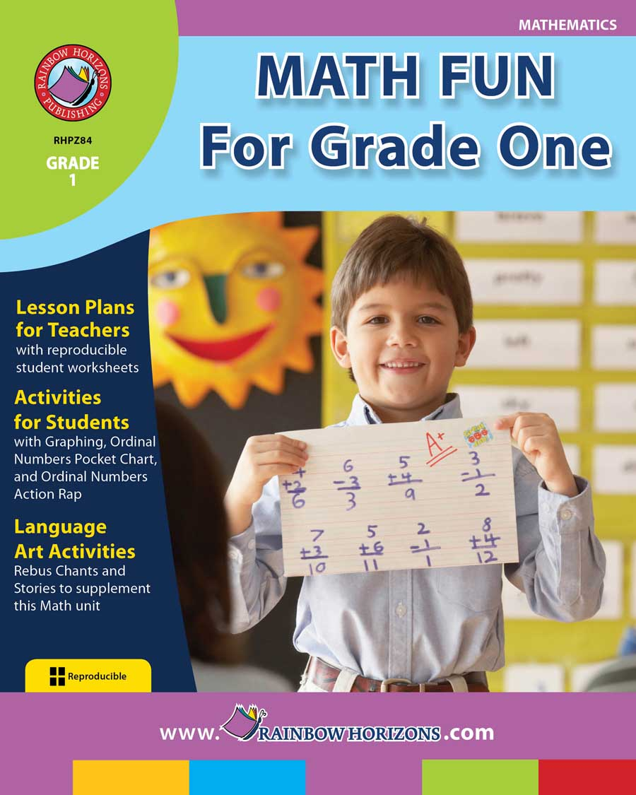 Math Fun For Grade One Gr. 1 - print book